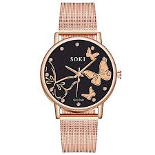 Women's Casual Stainless Steel Mesh Belt Watch ... - Amazon.com