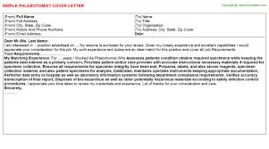 phlebotomist cover letter qualifications phlebotomist cover letter