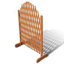 """【USA Warehouse】Extendable Wood <b>Trellis Fence 5</b>' 11"""" x 3' 3 ..."""