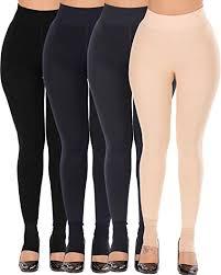 <b>CHRLEISURE</b> Women's Winter Warm Fleece Lined Leggings ...