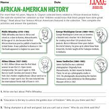 black history month printables time for kids famous african americans