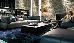dark blue living room with carpet inspiring modern textured stone wall living room with dark blue dark trendy living room