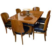 streamline french art deco dining table and chairs at 1stdibs art deco dining set