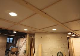 cheap and easy basement ceiling ideas basement ceiling lighting