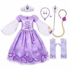 <b>AmzBarley Girls</b> Princess Rapunzel Puff Sleeve Tulle Costume ...