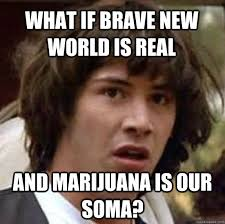 What if Brave new world is real and marijuana is our soma ... via Relatably.com