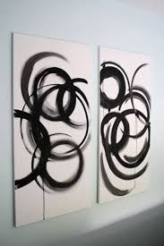 <b>DIY</b> some simple, abstract paintings. Needs a bit more color for me ...
