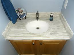 corian kitchen top: the customer liked it so much better that we flipped it over and made them a vanity top