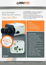 design a flyer for a special offer on sony cctv camera model fb 8 for design a flyer for a special offer on sony cctv camera model fb