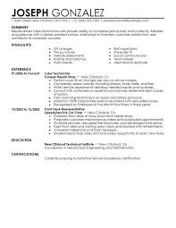 unforgettable lube technician resume examples to stand out lube technician resume sample
