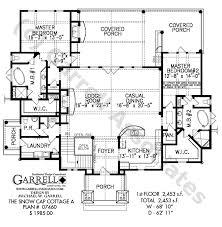 Snow Cap Cottage   A House Plan   House Plans by Garrell    Snow Cap Cottage A   Rustic Mountain House Plans