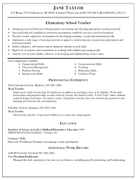 sample elementary teacher resumes itemplated 8 sample elementary teacher resumes