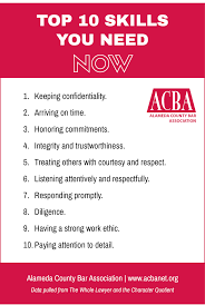 top skills new lawyers need now alameda county bar association the following chart highlights the top 10 skills needed immediately by new lawyers