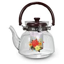 Жаропрочный стеклянный <b>заварочный чайник 0.6</b>л Kelli KL-3005 ...