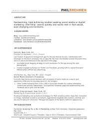 marketing resume samples hiring managers will notice inbound marketing intern resume sample