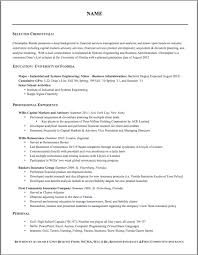 correct format of a resume template correct format of a resume
