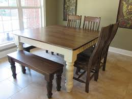 Farm Table Dining Room Set Shabby Chic Rustic Farmhouse Solid 8 Seater Dining Table Bench And