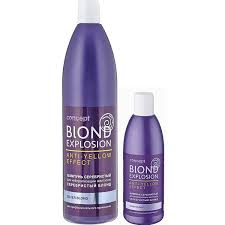 Серебристый <b>шампунь Concept</b> Blond Explosion Anti Yellow ...