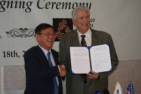 morongo korea sign historic agreement promoting jobs and economic the agreement is believed to be the first of its kind between the republic of korea and a native american tribal government it was signed at the korea