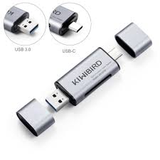 Type C USB 3.0 <b>SD TF</b> Memory Card Reader For SDHC RS MMC ...