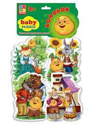 "<b>Мягкие пазлы</b>"" <b>Baby puzzle</b> Сказки"" Колобок Vladi Toys 3699271 в ..."