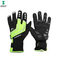 Winter Cycling Thermal Gloves Windproof Touch Screen <b>Reflective</b> ...