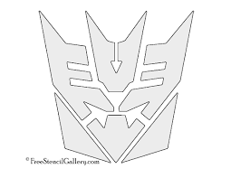 dollar sign stencil gallery part 2 tranformers decepticon symbol stencil