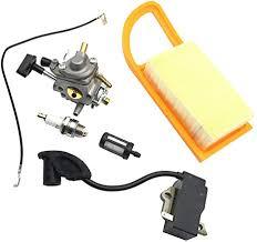 <b>Carburetor</b> +<b>Ignition Coil</b> + Spark Plug + Air Filter + <b>Fuel</b> Filter for ...