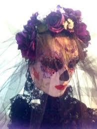 Adult size Female Dia De Los Muertos Flapper <b>Skull</b> Mask on ...