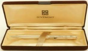 <b>GIVENCHY</b> Genuine Ballpoint <b>Pen</b> Gold (Black Ink) wz Box Antique ...
