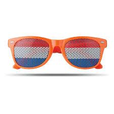 Очки солнцезащитные, оранжевый оптом под логотип