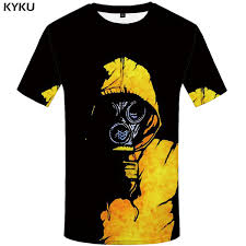 <b>KYKU Skull T Shirt</b> Men Graffiti Funny T Shirts Funny Tshirt Printed ...