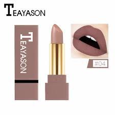 <b>1PC</b> Nude <b>Waterproof Lipstick Matte</b> Pumpkin Color <b>Lipstick</b> Vitamin ...