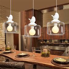 Nordic <b>Modern LED resin</b> bird pendant light Birdcage Droplight ...
