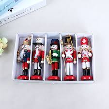 New 5pcs <b>1Set 12Cm</b> Tall Christmas Holiday Nutcracker Fat Soldier ...