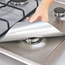 4pcs/10Pcs <b>Gas Stove Cooker Protectors</b> Cover/liner Clean Mat Pad ...