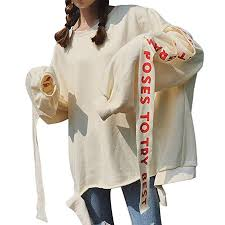 XWDA Women Korean Fashion Sweatshirts Hoodie ... - Amazon.com