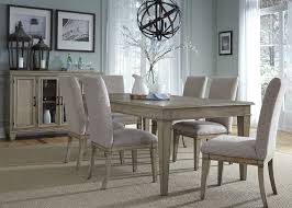 room table displays coaster set driftwood: grayton grove driftwood extendable dining room set