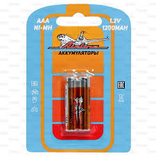 <b>Батарейки Airline AAA</b> HR03, <b>аккумулятор</b> Ni-Mh, 1200 mAh, 2шт ...