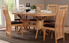 extendable dining table set: townhouse oval extending dining table and  bali chairs set