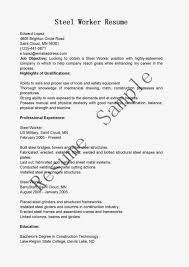 resume samples steel worker resume sample steel worker resume sample