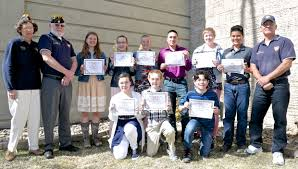students present patriotic essays head to regionals brad