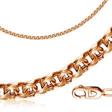 <b>Цепь ручной работы из</b> красного золота, плетение бисмарк 60 см.