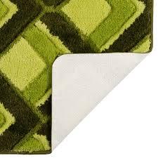 Коврик для ванной комнаты «Ячейки» 55х90 см цвет зелёный в ...