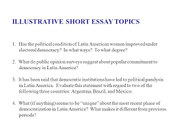 comparative politics essay topics Free Essays and Papers