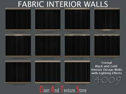 black fabric and gold trim interior wall texturesinterior design textures w lighting for complete formal interiors 4009 black fabric lighting