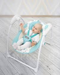 <b>Электронные качели</b> детские <b>Amarobaby Swinging</b> Baby (бирюза ...
