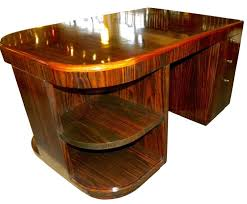 art deco style storage desk with shelves and full bull nose edge art deco desk computer