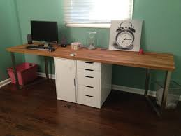 awesome home office 2 warm solid oak desks for home office furniture sets captivating two spaces awesome office furniture 5