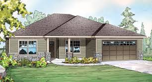 Contemporary Craftsman Ranch House Plan Contemporary Craftsman Ranch House Plan Elevation